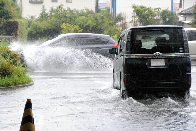 浸水した車の被害