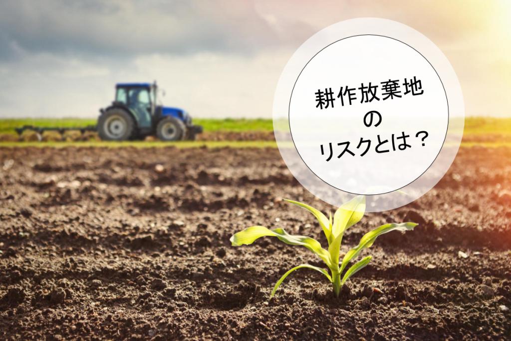 放置した耕作放棄地の悪影響とは|正しい対策で被害や負担を減少