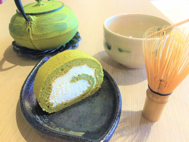 茶道道具とスイーツ